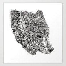 Tribal Wolf Art Print