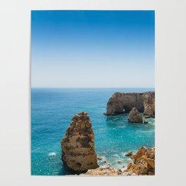 Beach at Lagoa, Algarve, Portugal II Poster
