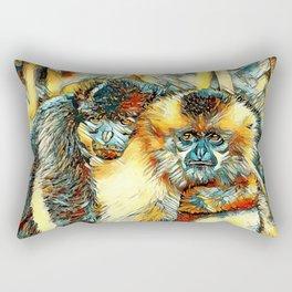 AnimalArt_Gibbon_20170901_by_JAMColorsSpecial Rectangular Pillow