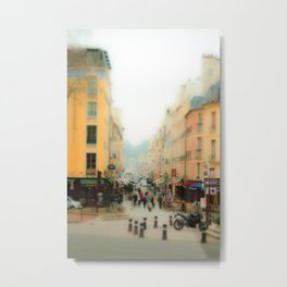 Side streets of Paris Metal Print