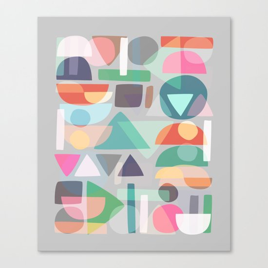 Pastel Geometry 2 Canvas Print