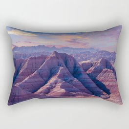 Badlands National Park Purple Morning Rectangular Pillow
