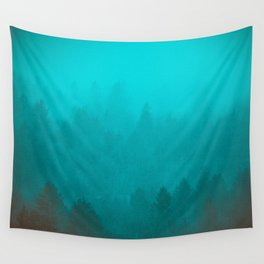 PNW Fog Forest Wall Tapestry