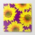 Sunflowers on a purple background - summer mood - #Society6 #buyart by pivivikstrm