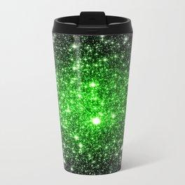 galAxy. Stars Lime Green Travel Mug