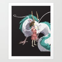 spirited away Art Prints featuring Spirited Away by Sharna Myers