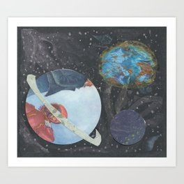 3D Space Art Print