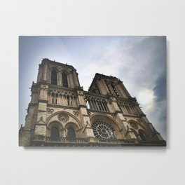 Notre Dame Towers Metal Print