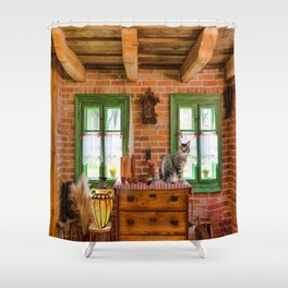 Rustic Country Charm by Liane Wright Shower Curtain