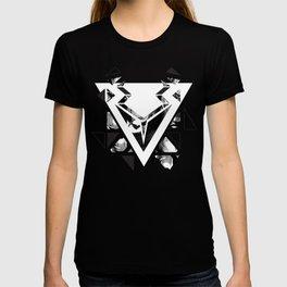 Black geometric animal T-shirt