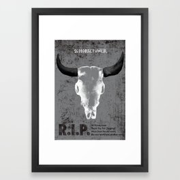16 Horsepower Gigposter Framed Art Print