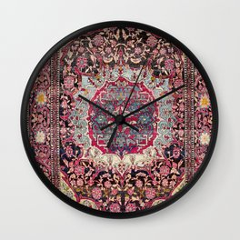 Esfahan  Antique Persian Rug Print Wall Clock