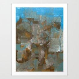 oil abstract on 60x70 cm canvas Art Print