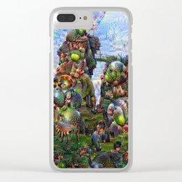 DeepDream Pictures, Rocks Clear iPhone Case