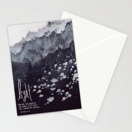 Light of the World, City on a Hill - Matthew 5:14 Stationery Cards
