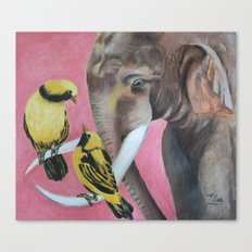 elephant fantasy (pink) Canvas Print