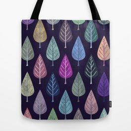 Watercolor Forest Pattern IV Tote Bag