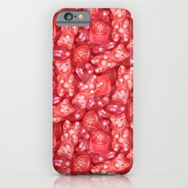 Red is My Favorite Flavor - delicious gummy bears, fruit chews, strawberries and jelly beans iPhone Case