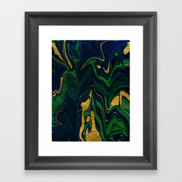 Rhapsody in Blue and Green and Gold Framed Art Print