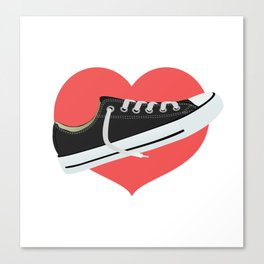 I love to wear trainers Canvas Print
