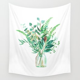 greenery in the jar Wall Tapestry