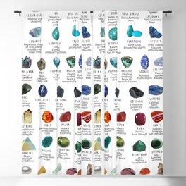 crystals gemstones identification Blackout Curtain