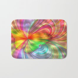 Abstract Rainbow Colors Butterfly Bath Mat