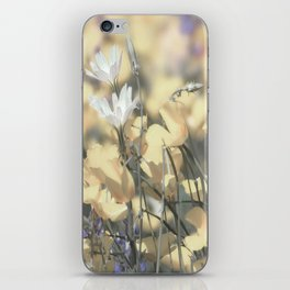 Yellow Poppy Wildflower Art by Murray Bolesta iPhone Skin
