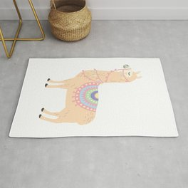 My Llama Don't Like You Cute Llama Party Rug
