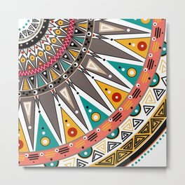 Ethnic tribal ornament Metal Print