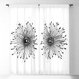 Enigma Ink Art Illustration Blackout Curtain