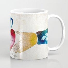 Friendship Love Art - Best Friends Forever - Sharon Cummings Coffee Mug