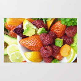 Fruits and Vegetables - Cafe or Kitchen Decor Rug