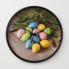 Easter Eggs 18 Wall Clock