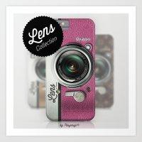 Lens SP200 - Pink Camera Art Print