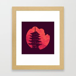 Pagoda Sunset Framed Art Print