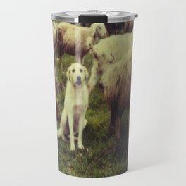 Herding dog, male, south of Israel, scaned sx-70 Polaroid Travel Mug