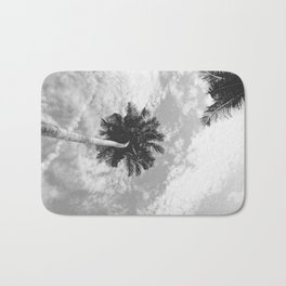 Palm Tree, San Blas Islands, Panama, Black & White Bath Mat