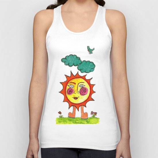 """""""Here Comes The Sun"""" Unisex Tank Top"""