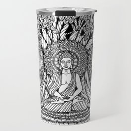 A Starry Night of Buddha Meditation-Hand-drawn-Kent Chua Travel Mug