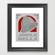 Jingle Bell - Silver Framed Art Print