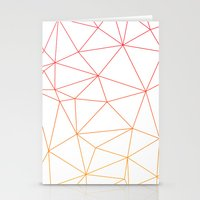 polygon Stationery Cards featuring polygon by OHOO SIX