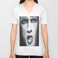 neil gaiman V-neck T-shirts featuring Neil by 4:F by Freddie:4