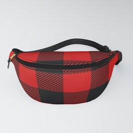 Red Lumberjack Pattern Fanny Pack