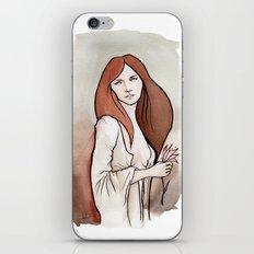 Brunette in Drapery iPhone & iPod Skin