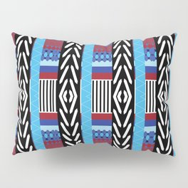 Black Blue Etnic Pillow Sham