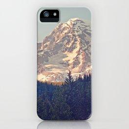 Mount Rainier Retro iPhone Case