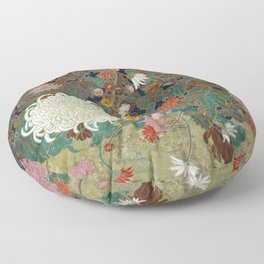 flower【Japanese painting】 Floor Pillow