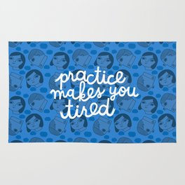 Practice Makes You Tired Rug