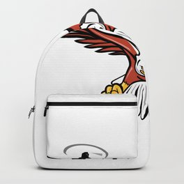 Half Eagle Half Drone Swooping Mascot Backpack